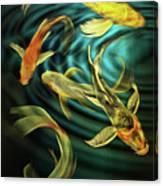 Glowing Koi  Canvas Print