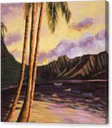 Glowing Kualoa Diptych 1 Of 2 Canvas Print