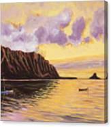 Glowing Kualoa Diptych 2 Of 2 Canvas Print