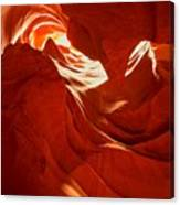 Glowing Sandstone Ledges Canvas Print