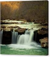 Glowing Waterfalls Canvas Print