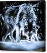 Glowing Wolf In The Gloom Canvas Print