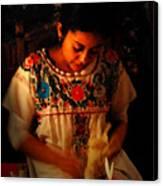Glowing Woman Canvas Print
