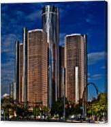 Gm And Marriot Monster In Detroit Canvas Print