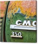 Gmc 350 Tag Canvas Print