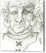 Gnarlsworth Gnome - Black And White Canvas Print