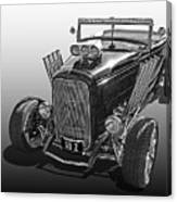 Go Hot Rod In Black And White Canvas Print