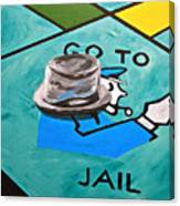 Go To Jail  Canvas Print
