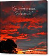 Go To Sleep Canvas Print