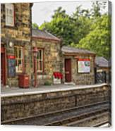Goathland Railway Station, Train Station From Harry Potter Canvas Print