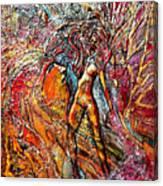 God Admires Woman Canvas Print