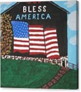 God Bless America Barn Canvas Print