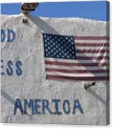 God Bless America Flag Restaurant Chandler Arizona 2005 Canvas Print