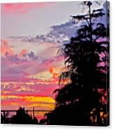 God Gracing La County Canvas Print