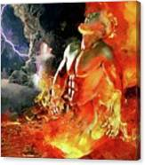 God Of Fire Canvas Print