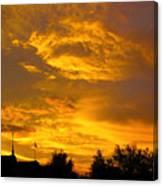 God Says Good Night Canvas Print