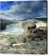 Godafoss Waterfall Iceland Canvas Print