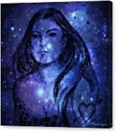 Goddess In Blue Canvas Print