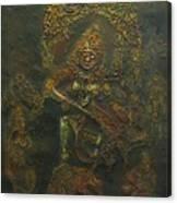 Goddess Kali Killing Demon Canvas Print