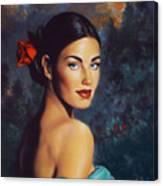 Goddess Of The Summer Rose Canvas Print