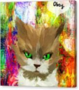 Goddess Santia As A Cat 687 Canvas Print