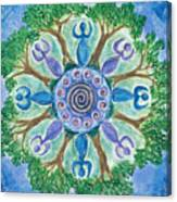 Goddesses Dancing Canvas Print