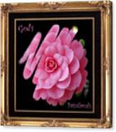 God's Paintbrush With Gold Frame Canvas Print