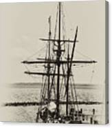 Godspeed At Port In Jamestown Canvas Print
