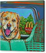 Goin' To Mickey D's With My Peeps Canvas Print