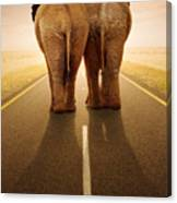 Going Away Together / Travelling By Road Canvas Print