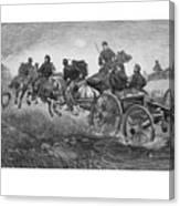 Going Into Battle - Civil War Canvas Print