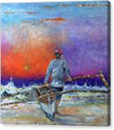Going To Fish Canvas Print