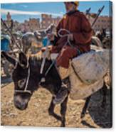 Going To The Rissani Market Canvas Print
