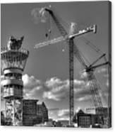 Going Up Midtown Atlanta Construction Art Canvas Print