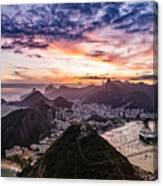 Going Up The Cable Car In Rio De Janeiro Canvas Print