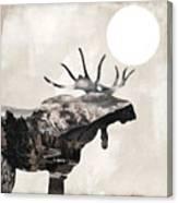 Going Wild Moose Canvas Print