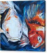 Gold And Koi Fish 1 Canvas Print