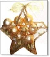 Gold Ball Star Canvas Print