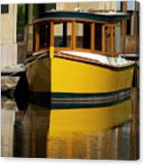 Gold Boat Reflects Canvas Print