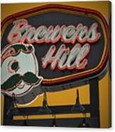 Gold Brewers Hill Canvas Print