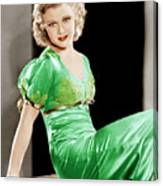 Gold Diggers Of 1933, Ginger Rogers Canvas Print