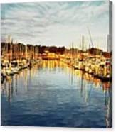 Gold Light, Monterey Marina Canvas Print
