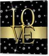 Gold Love  Canvas Print