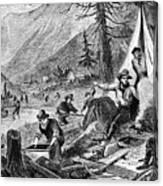 Gold Mining, 1853 Canvas Print