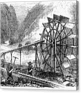 Gold Mining, 1860 Canvas Print