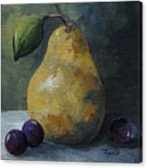 Gold Pear With Grapes  Canvas Print