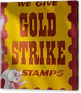Gold Strike Stamps Canvas Print