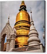 Gold Stupa Canvas Print
