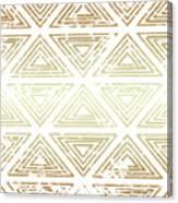 Gold Tribal Canvas Print