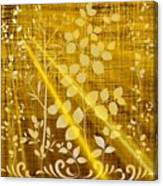 Golden And White Leaves Canvas Print
